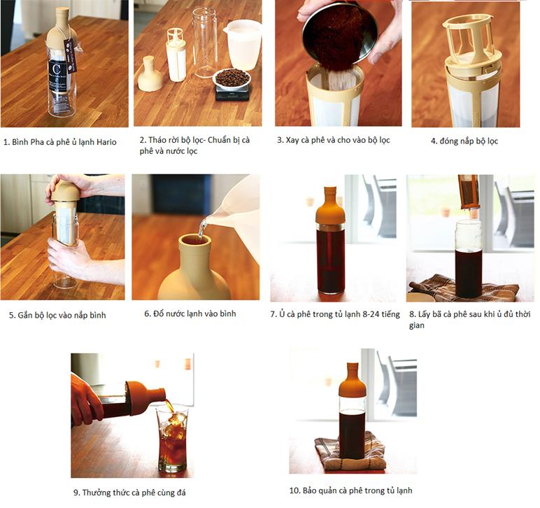 Bình pha cà phê lạnh Hario Filter-in Coffee Bottle Moca FIC-70-MC-5ly