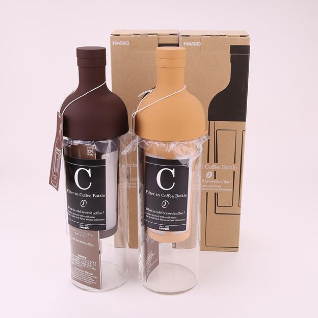 Bình pha cà phê lạnh Hario Filter-in Coffee Bottle Chocolate Brown FIC-70-CBR- 5 ly